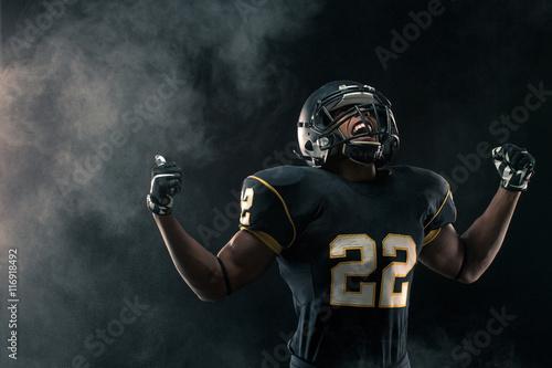 Canvas Print American Football Player