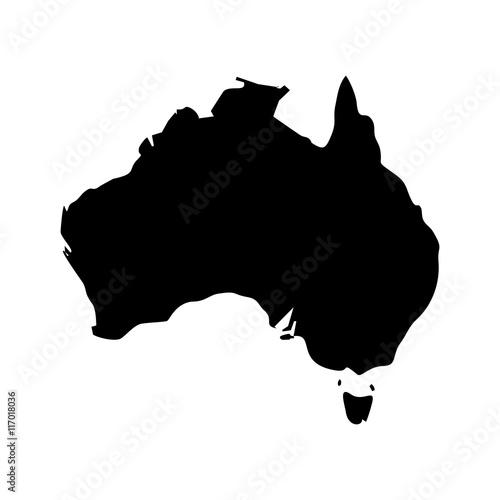 Wallpaper Mural australia map