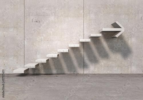 Obraz na plátně Growth and progress concept . Mixed media