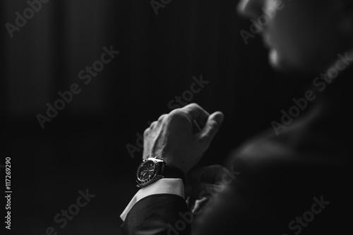 watch in a man