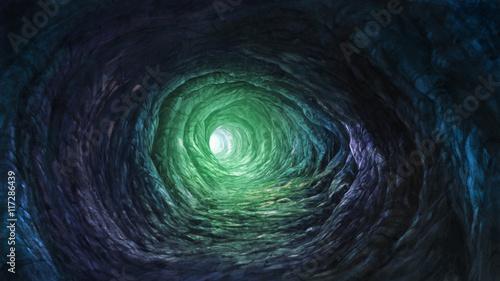 Fotografie, Tablou Cave with fantasy lighting illustration background