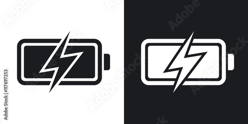 Cuadros en Lienzo Vector battery icon, stock vector