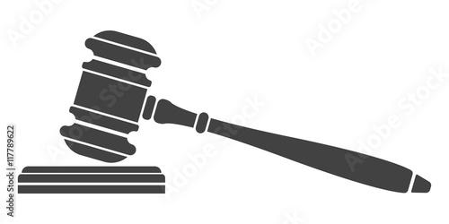 Valokuvatapetti Judge gavel icon.