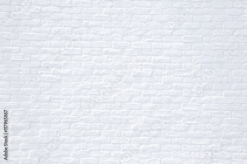 Murais de parede 白いレンガの背景 White brick background