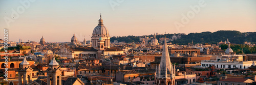 Stampa su Tela Rome Rooftop view