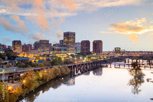 Fotografia Downtown Richmond, Virginia skyline