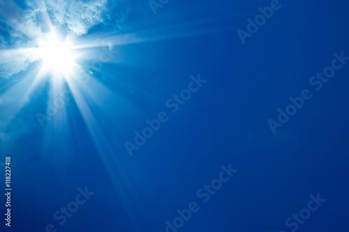 Fototapeta sunny blue sky