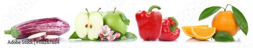 Obst und Gemüse Früchte Apfel Orange Paprika Äpfel Orangen Fr