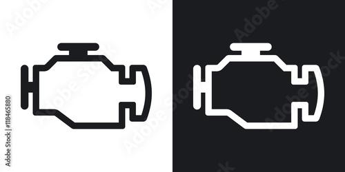 Fotografering Vector engine icon