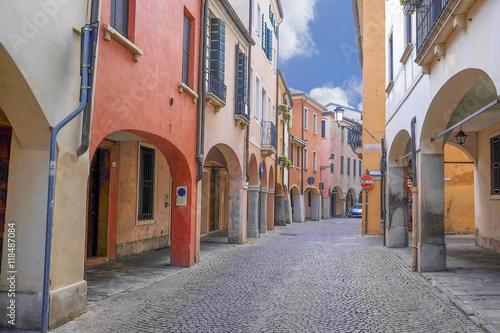 Wallpaper Mural PADOVA, ITALY - JULY, 9, 2016: small street in a center of Padova, Italy