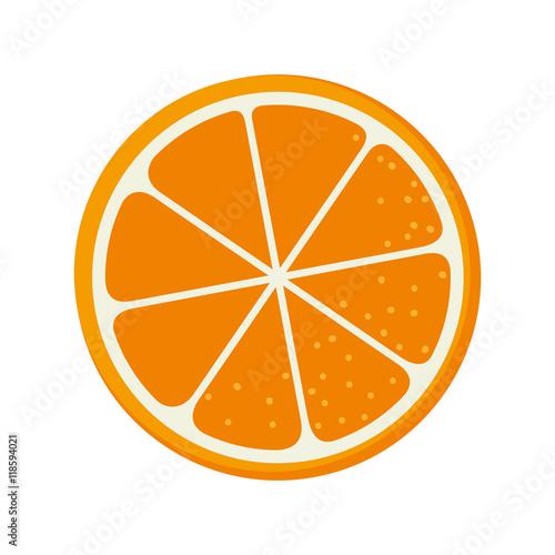 pomarańczowe owoce jedzenie naturalne odżywianie natura wektor ilustracja