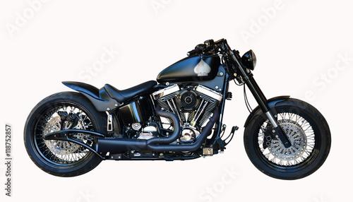 Fotografia black motorcycle isolated
