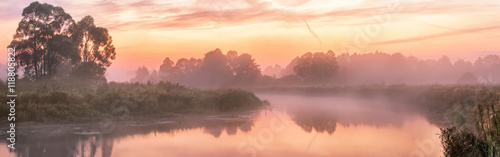 Foggy river in the morning