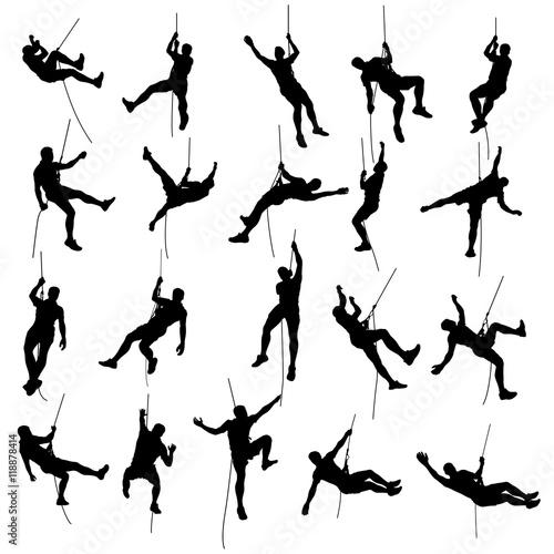 Fotografia climber set silhouette 2