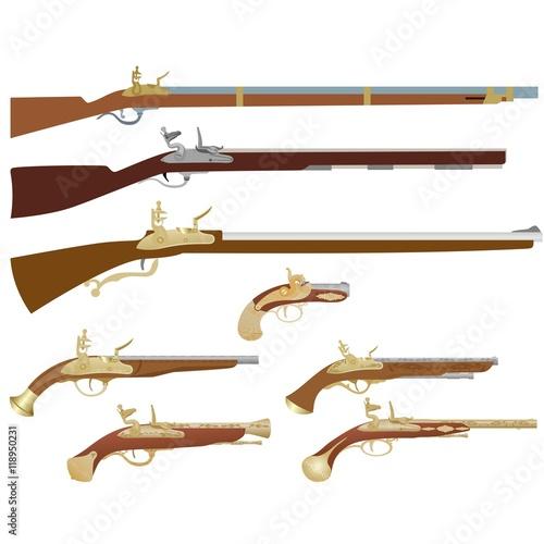 Obraz na plátně Antique firearms