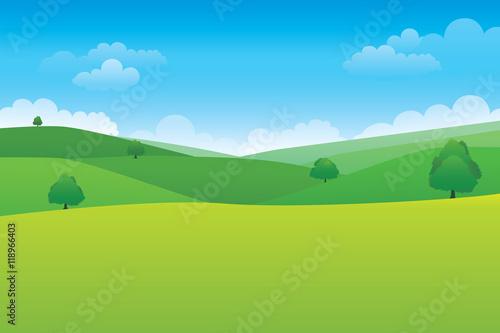 Fotografie, Tablou Green hill landscape