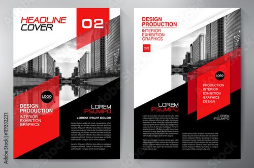 Fotografia Business brochure flyer design a4 template.