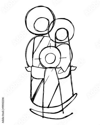 Obraz na plátne Sacred Family of Jesus