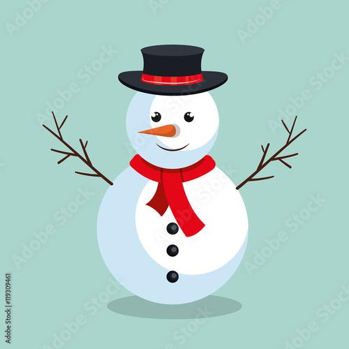 Wallpaper Mural snowman christmas character icon