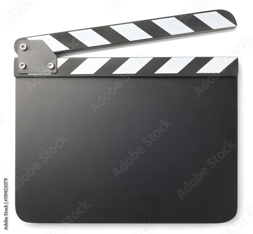 Fotografiet Movie clapper isolated on white background