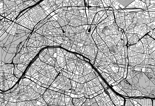 Paris city map Fototapeta