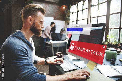 Fraud Hacking Spam Scam Phising Concept Fototapeta
