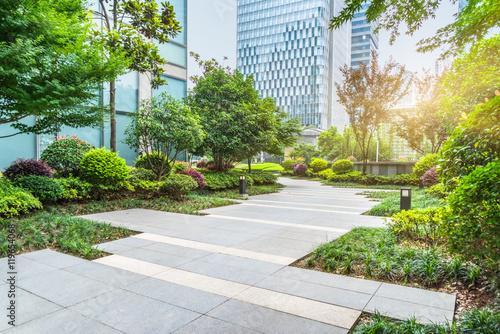 Photo beautiful park at a sunny day,shanghai,china.