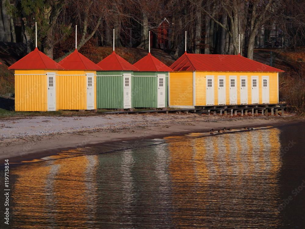Obraz lake swedish fototapeta, plakat