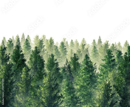 Cyfrowa ilustracja 3d Odpłacający się las