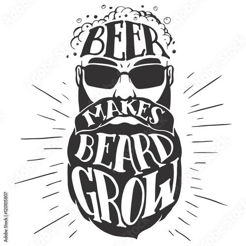 Photographie Beer makes beard grow