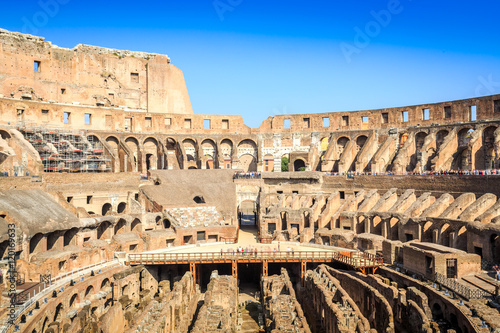 Canvas Interior of huge Colosseum, Italy