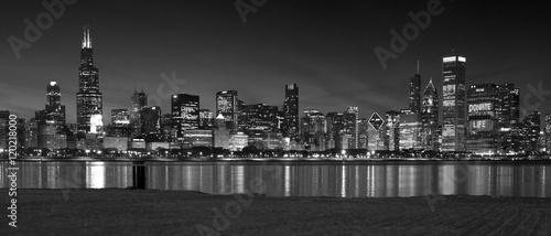 Fototapeta premium Chicago Panoramiczna linia horyzontu