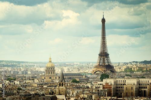 Fototapeta Widok na Wieżę Eiffla, Paryż, Francja XL