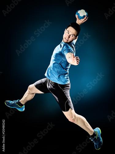 man handball player isolated