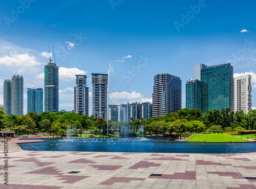 Skyline of Central Business District of Kuala Lumpur, Malaysia