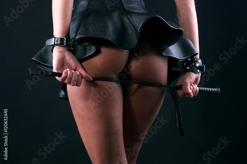 Fototapeta Girl with whip