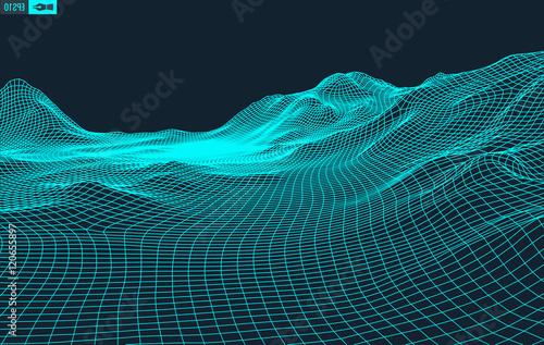 Fotografia Abstract vector landscape background
