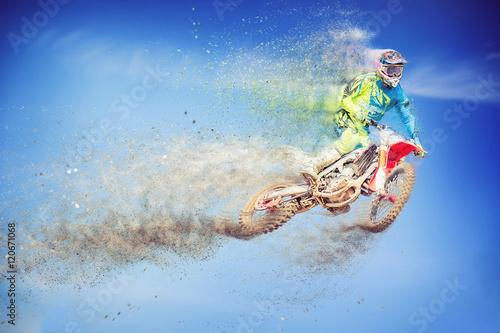 Motocross dissolving