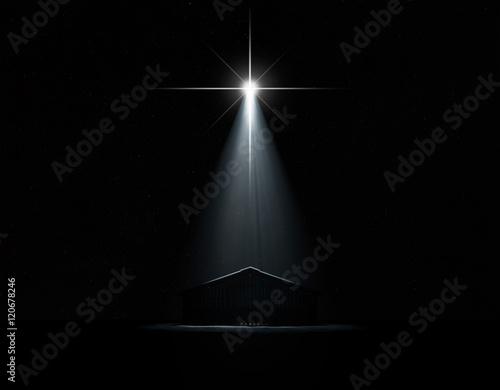 Stampa su Tela Abstract Nativity Scene