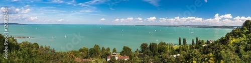 Obraz na plátně Panoramic views of Lake Balaton