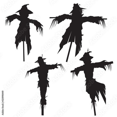 set of scarecrows, vector illustration Fototapeta