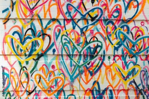 Bright graffiti on the wall Fototapet