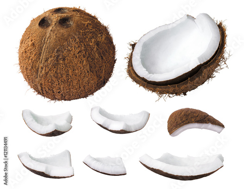 Fotografia Coconut pieces
