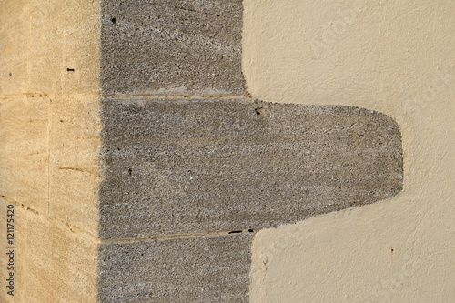 Canvas Print Abstract stone corner of a building