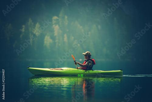 Canvas Print Kayak Tour on the Lake