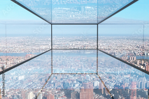 Transparent glass room