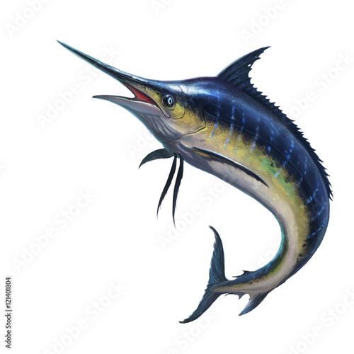 Wallpaper Mural Blue marlin