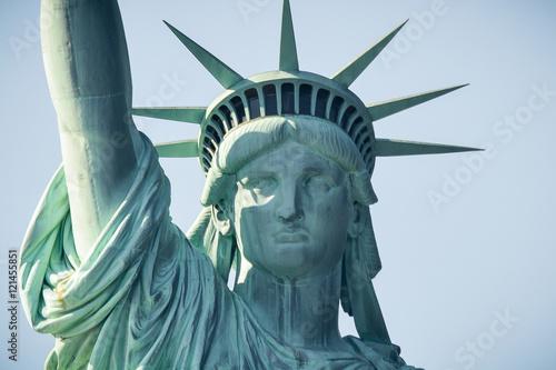 Obraz na płótnie Closeup of The Statue of Liberty