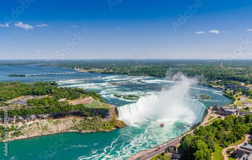 Aerial view of Niagara horseshoe falls. Ontario Canada Fototapeta
