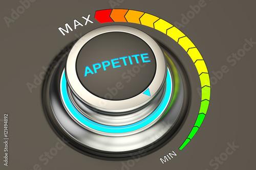 Fotografia min level of appetite concept, 3D rendering